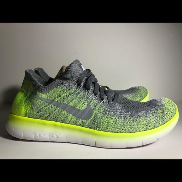 BRAND NEW Nike Free Run Flyknit Yellow Volt NWT